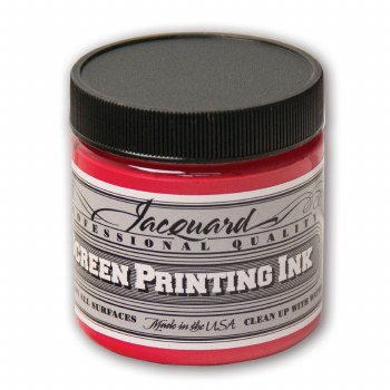 Professional Screen Printing Ink, 4 oz. Jars, Opaque Red