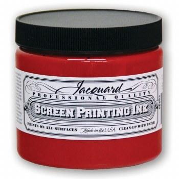 Professional Screen Printing Ink, 16 oz. Jars, Red