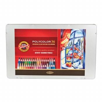 Polycolor Artists Colored Pencil Sets, 36-Color Set
