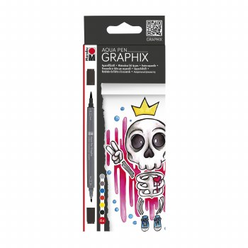 Graphix Aqua Pen Sets, King of Bubblegum 6-Color Set