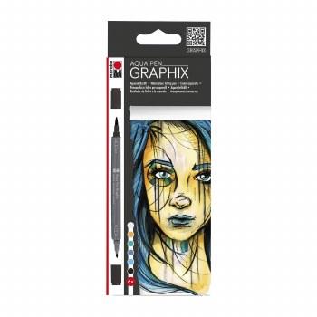 Graphix Aqua Pen Sets, Metropolitan 6-Color Set