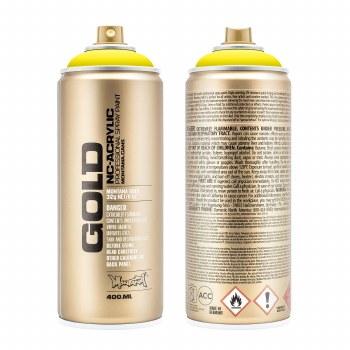Montana GOLD Spray Color, 100% Yellow - 400ml Spray Can