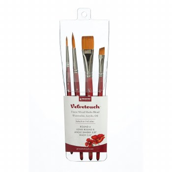 Princeton Professional 4-Brush Sets, Velvetouch Professional 4-Brush Set