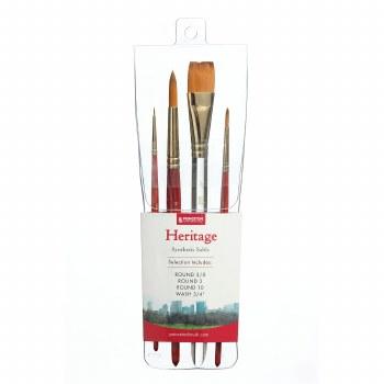 Princeton Professional 4-Brush Sets, Heritage Professional 4-Brush Set