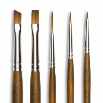 Raphael Precision Brushes, Synthetic, Short Handled, Re-Touch, 4