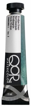 QoR Watercolors, Viridian Green - 11ml Tube
