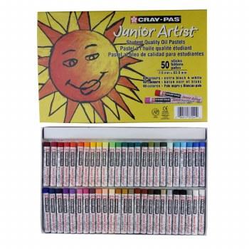 Cray-Pas Junior Artist Oil Pastels, 50-Color Set