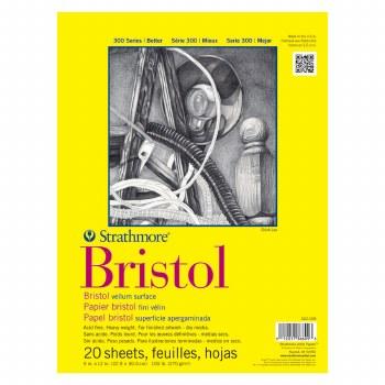 Strathmore Bristol Paper Pads - Series 300, Regular, 9 in. x 12 in. - 20 Shts./Pad