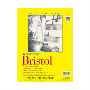 Strathmore Bristol Paper Pads - Series 300, Smooth, 11 in. x 14 in. - 20 Shts./Pad