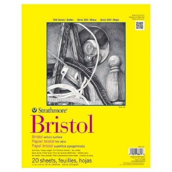 Strathmore Bristol Paper Pads - Series 300, Regular, 11 in. x 14 in. - 20 Shts./Pad