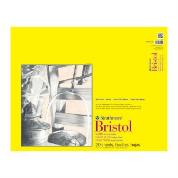 Strathmore Bristol Paper Pads - Series 300, Smooth, 19 in. x 24 in. - 20 Shts./Pad