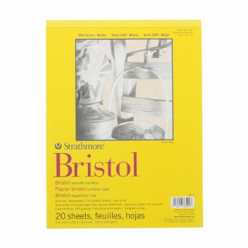 Strathmore Bristol Paper Pads - Series 300, Smooth, 9 in. x 12 in. - 20 Shts./Pad