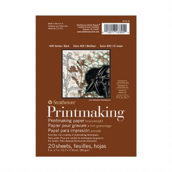 Strathmore Printmaking Heavy-weight Pads - 400 Series, 5 in. x 7 in. - 20 Shts./Pad - Glue Bound