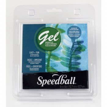 Speedball Gel Printing Plates, Single Plates, 5 in. x 5 in.