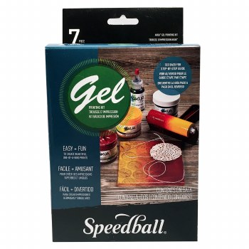 Akua Gel Printing Kit, Speedball Akua Gel Printing Kit - 5 in. x 5 in. Plate plus Supplies