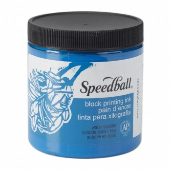 Block Printing Inks - Water-Based, 8 oz. Jars, Blue