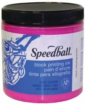 Block Printing Inks - Water-Based, 8 oz. Jars, Magenta