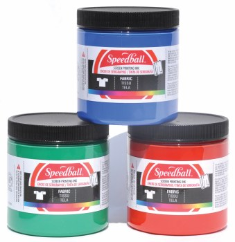 Fabric Screen Printing Inks, 8 oz., Red