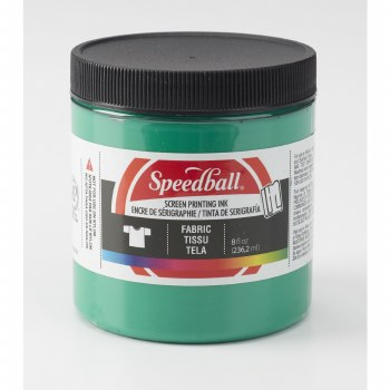 Fabric Screen Printing Inks, 8 oz., Green