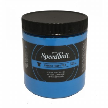 Fabric Screen Printing Inks, 8 oz., Fluorescent Blue