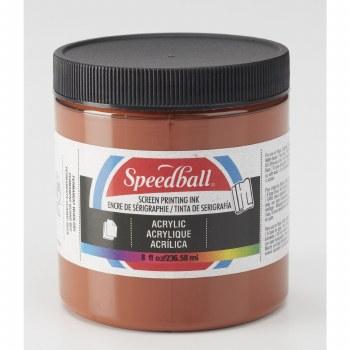 Permanent Acrylic Screen Printing Inks, 8 oz. Jars, Brown