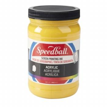 Permanent Acrylic Screen Printing Inks, 32 oz. Jars, Medium Yellow