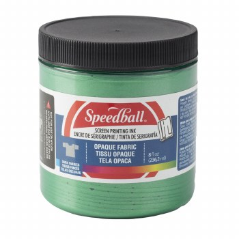 Opaque Fabric Screen Printing Ink, 8 oz. Jars, Emerald