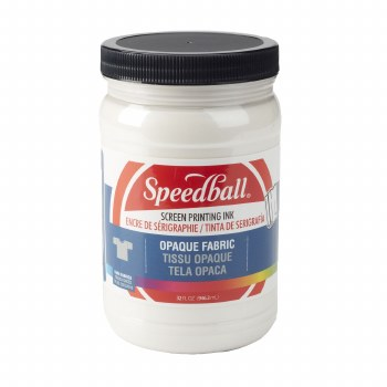 Opaque Fabric Screen Printing Ink, 32 oz. Jars, Pearly White