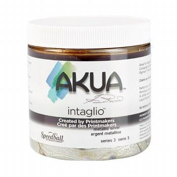 Akua Intaglio Ink, 8 oz. Jars, Metallic Silver