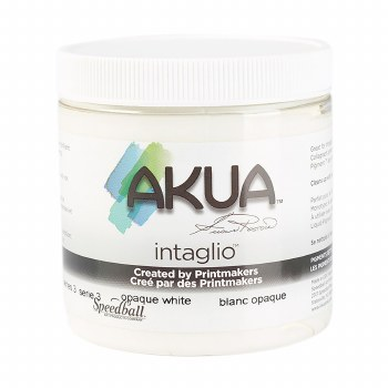Akua Intaglio Ink, 8 oz. Jars, Opaque White