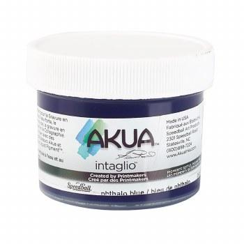 Akua Intaglio Ink, 2 oz. Jars, Pthalo Blue