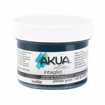 Akua Intaglio Ink, 2 oz. Jars, Pthalo Green