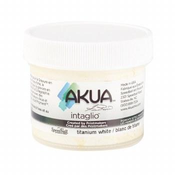 Akua Intaglio Ink, 2 oz. Jars, Titanium White