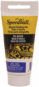 Block Printing Inks Oil-Based, 1.25 oz., Blue - Peggble