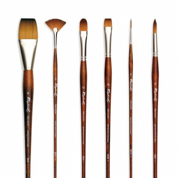 Raphael Precision Brushes, Synthetic, Long Handled, Flat, 2