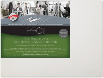 Fredrix Pro Belgian Linen Canvas Panel, 9x12