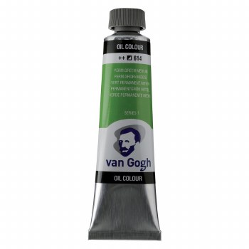 Van Gogh Oil Colors, 40ml, Permanent Green Medium