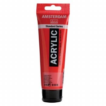 Amsterdam Standard Acrylics, 120ml, Pyrrole Red