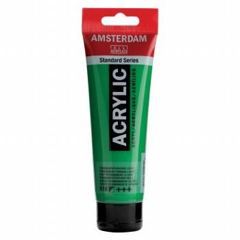 Amsterdam Standard Acrylics, 120ml, Permanent Green Light
