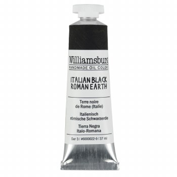 Williamsburg Oil Colors, 37ml, Italian Black Roman Earth