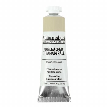 Williamsburg Oil Colors, 37ml, Unbleached Titanium Pale
