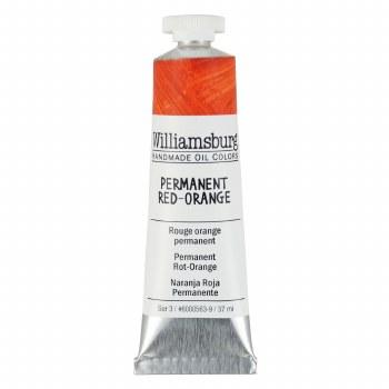 Williamsburg Oil Colors, 37ml, Permanent Red Orange