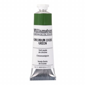 Williamsburg Oil Colors, 37ml, Chromium Oxide Green