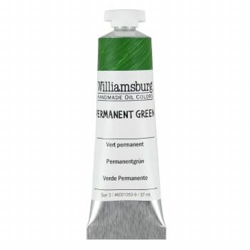 Williamsburg Oil Colors, 37ml, Permanent Green