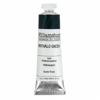 Williamsburg Oil Colors, 37ml, Phthalo Green