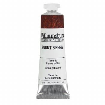 Williamsburg Oil Colors, 37ml, Burnt Sienna