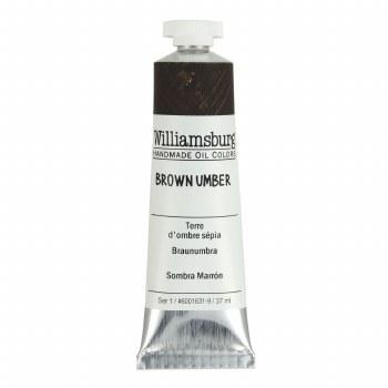 Williamsburg Oil Colors, 37ml, Brown Umber