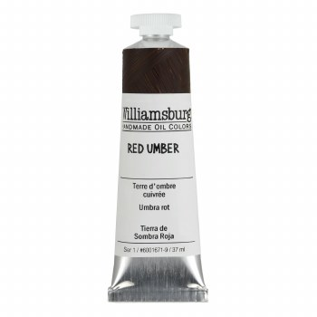 Williamsburg Oil Colors, 37ml, Red Umber