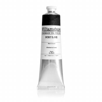 Williamsburg Oil Colors, 150ml, Ivory Black