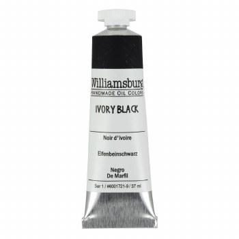 Williamsburg Oil Colors, 37ml, Ivory Black